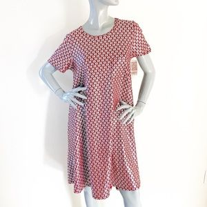 NEW Lularoe Carly Silver Red High-Low Swing Dress
